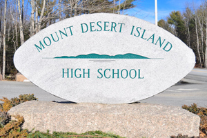 MacQuinn paving Mount Desert Island High School parking lot