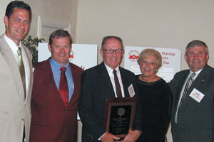 Contractors honor Ron MacQuinn photo from Mount Desert islander, award