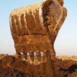 Excavation of dirt, sand, gravel